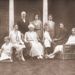 1930 at the Fuller's summer home in what was then called Little Boar's Head. NH. From left to right, Hope Halsey (Alvan T. Fuller's neice, Martha Halsey (ATF's sister), Flora A. Fuller (mother of ATF), Peter Fuller, Lydia Fuller and Viola Fuller. Standing in the back left to right, ATF, Mary (Dikki) fuller and Persh Fuller.
