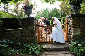 Bride makes her entrance